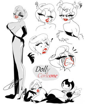 Dolly Corleone expressions doodles