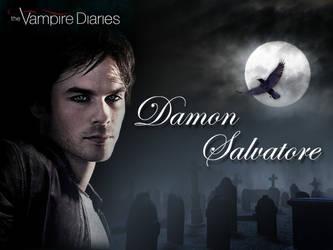 Damon Salvatore Background by ilive4edwardcullen