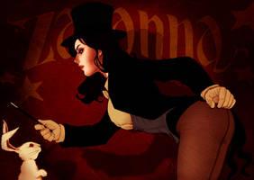 Zatanna performing magic..