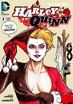 Faux Harley Quinn cover.