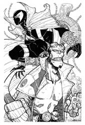 Spawn and Hellboy