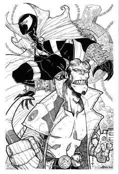 Spawn and Hellboy