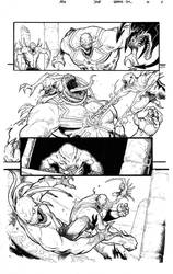Venom: 'Space Knight' #10, page 6 lineart.