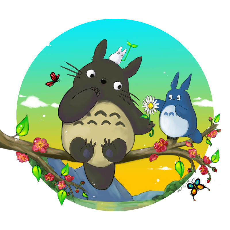 Totoro by MilloVerte