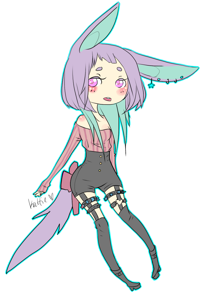 Pastel-goth Adoptable [Sold] by kukuku0kattie