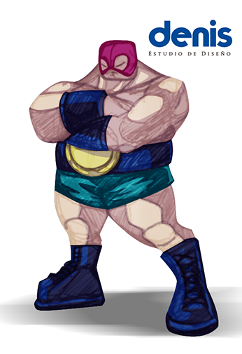 Luchador Campeon Tarjeta by lovogera