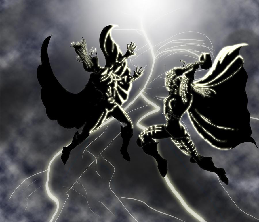 Siege: Thor vs Sentry by PaulVincent on DeviantArt