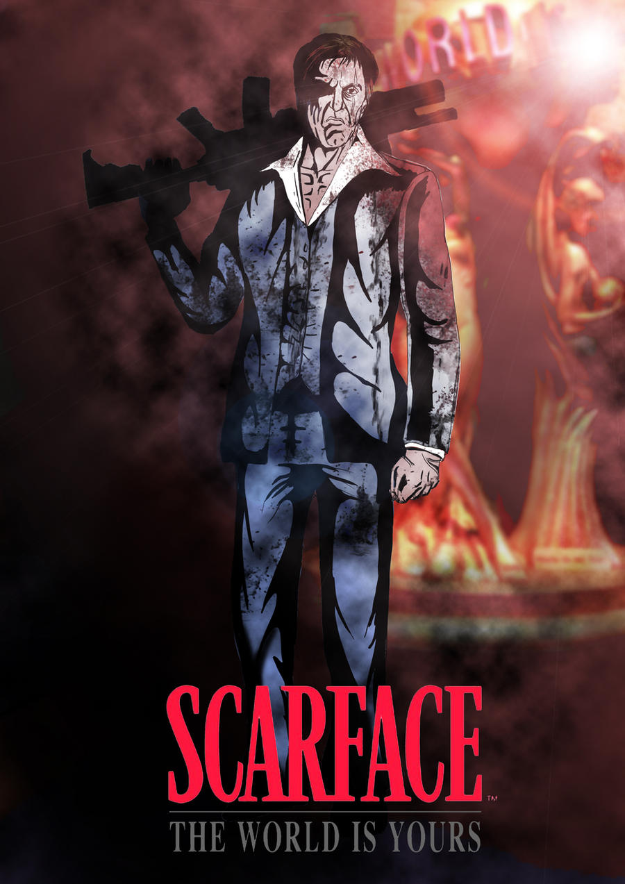 SCARFACE The World Is Yours Colored By PaulVincent