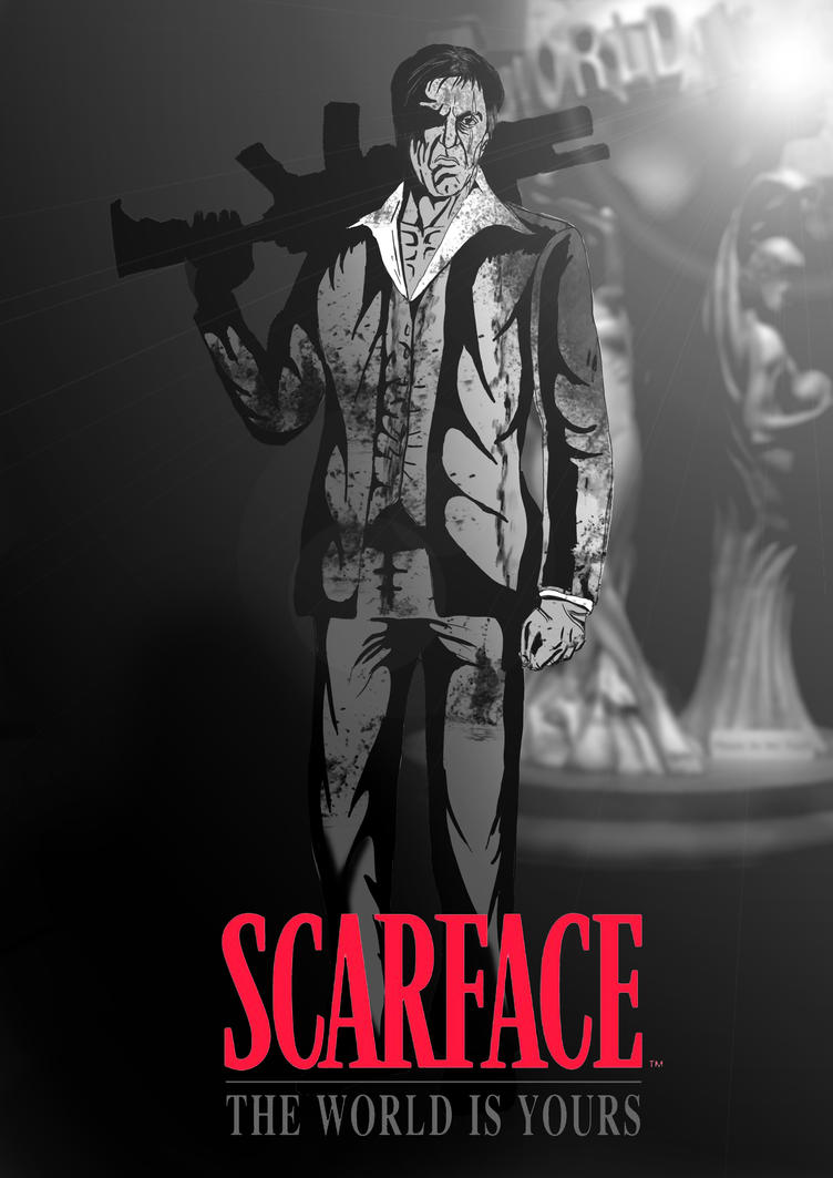 Scarface the world is yours greyscale by paulvincent on - The world is yours wallpaper ...
