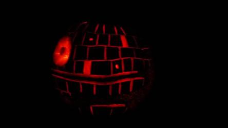 DeathStar Pumpkin by TheREALemoCloud