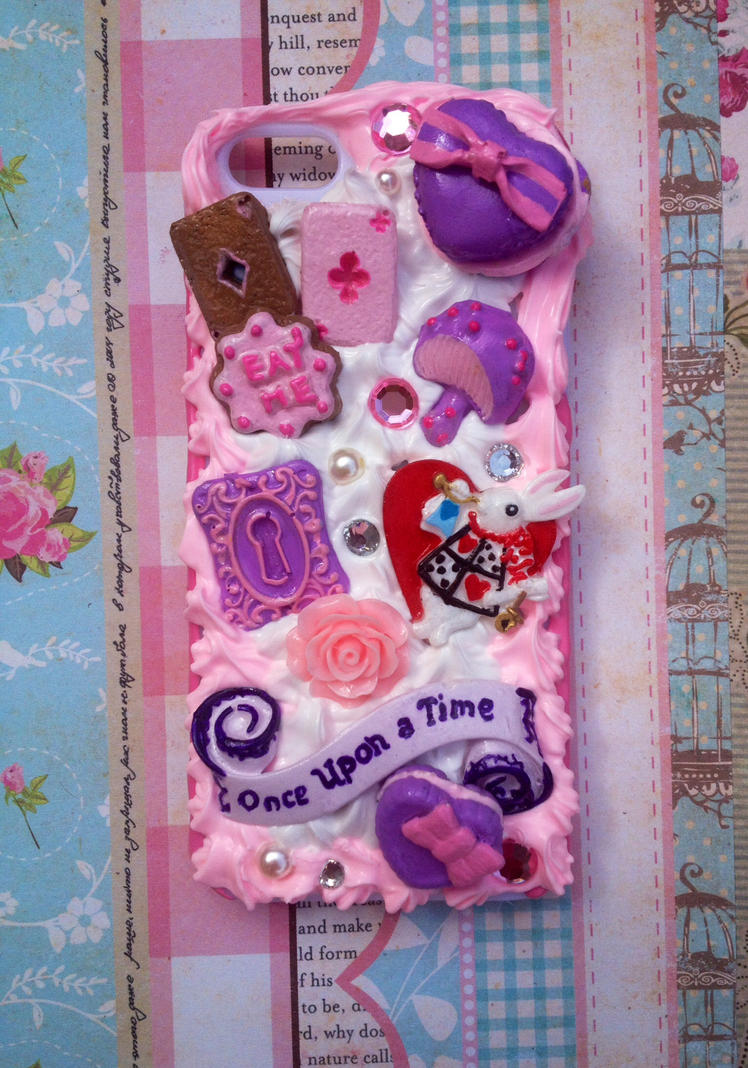 Alice In Wonderland White Rabbit phone case by Javdaneh
