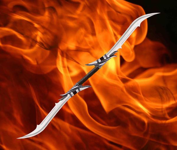 Dragon´s Custom Figures: Skeletors Two-Bladed Sword: Stainless ...