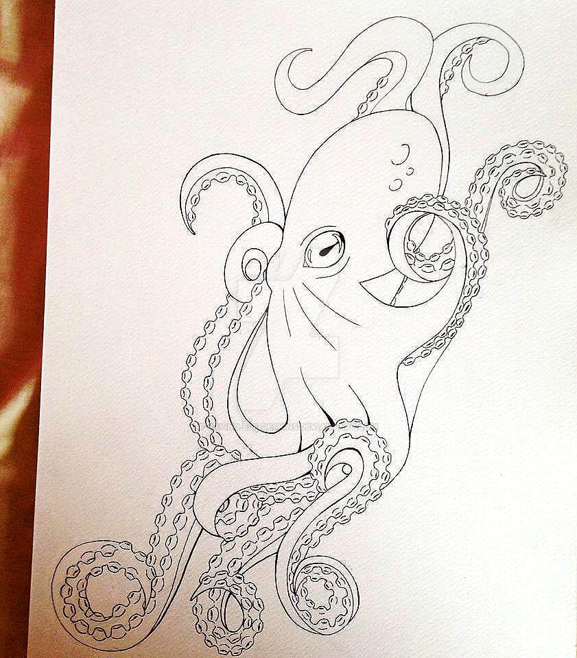 octopus tattoo design by crying elf designs on deviantart. Black Bedroom Furniture Sets. Home Design Ideas