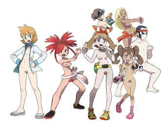 Nude Toons - Pokemon Trainers by GlitchyReal
