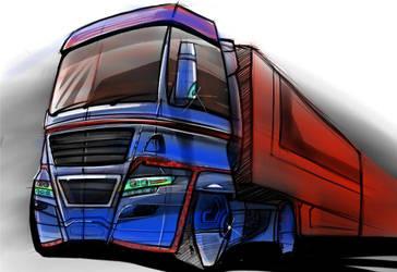 M.A.N. truck by ionutalbu