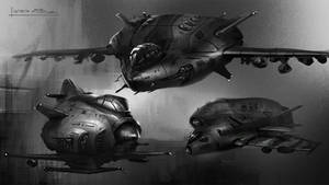 Shuttles sketches 01