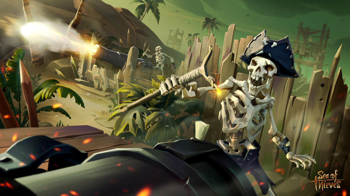 Skeleton Fort - Sea of Thieves by ARTek92