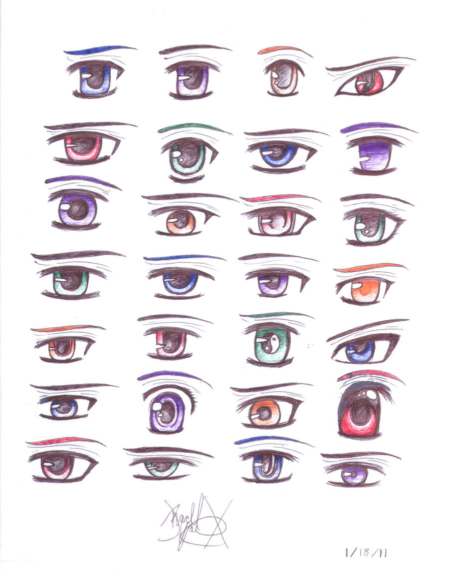 Anime Eyes Reference By Vampireknight05683 Manga Anime Traditional How To Draw  Male Anime