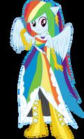 Rainbow Dash in Gala Dress (Vectored)