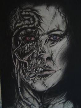 self portrait in pencil