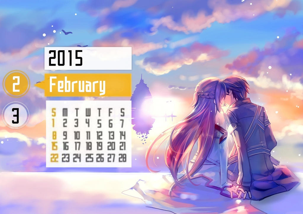 sword art online calendar 2015 by tinaexe