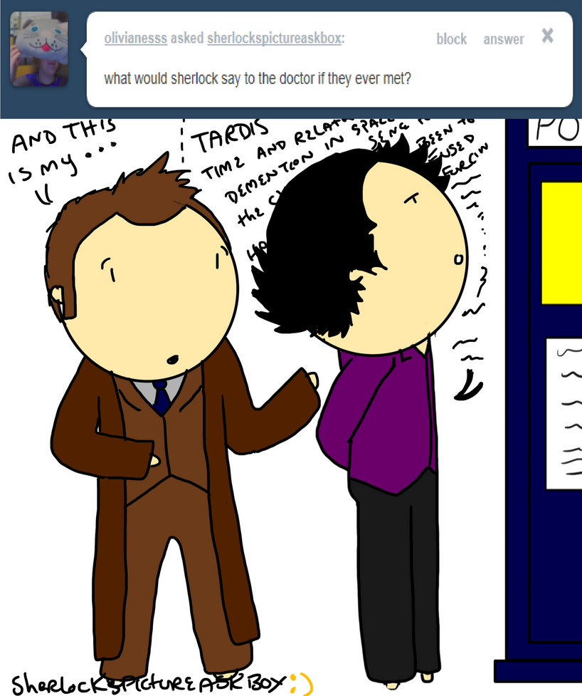 Sherlock meets the Doctor by ExtremlySelfishChild