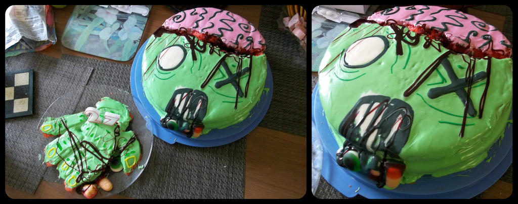 Zombie Birthday Cake by beresford666 on DeviantArt