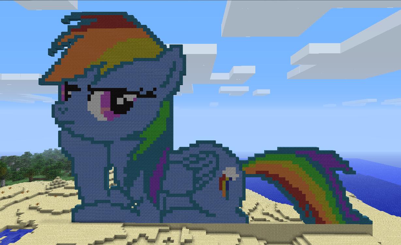 Rainbowdash Minecraft Pixel Art By Boltyhead On DeviantArt