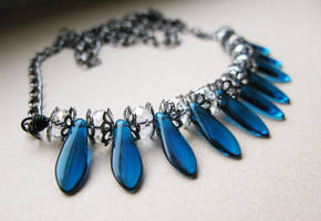 Capri Blue Czech Glass 01 by crystaland