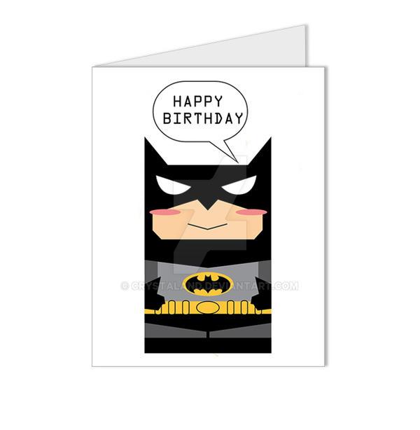 Batman The Dark Knight Happy Birthday Card by crystaland on DeviantArt – Batman Birthday Cards