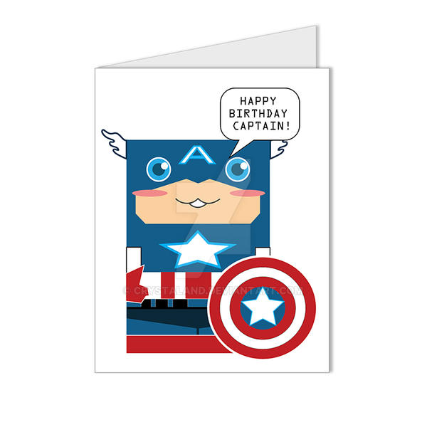 captain america superhero happy birthday card by crystaland on, Birthday card