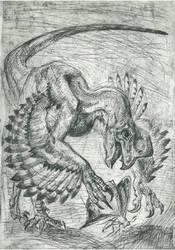 Oviraptor by Waspdrake