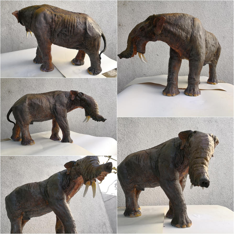 Deinotherium, various angles by Waspdrake