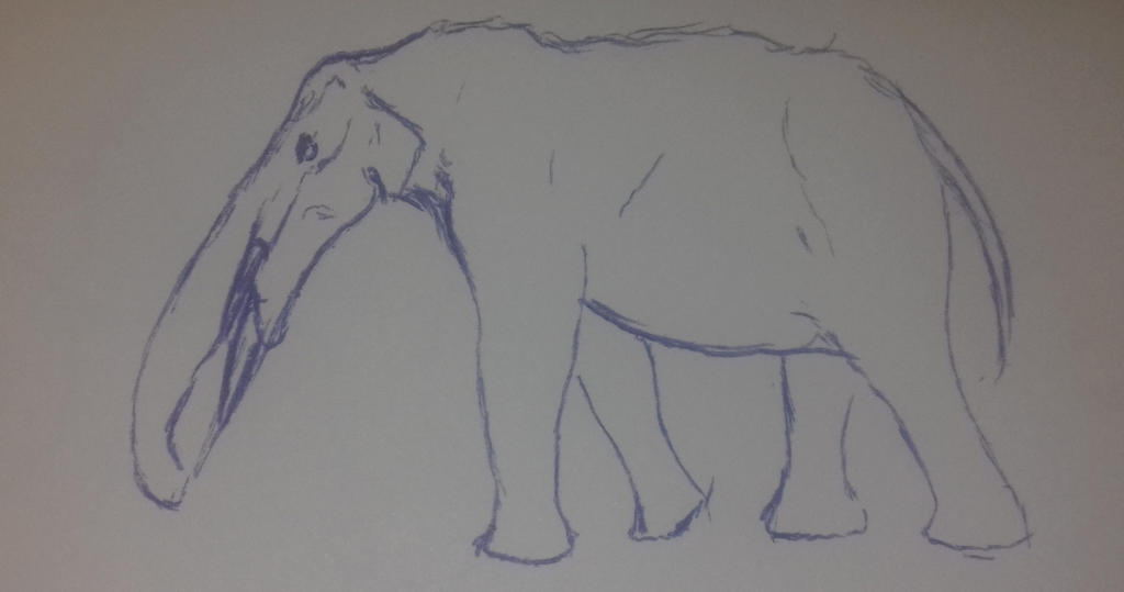 Gomphothere sketch by Waspdrake