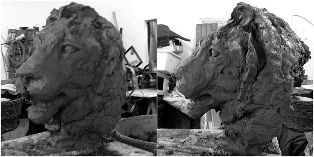Lion bust wip by Waspdrake
