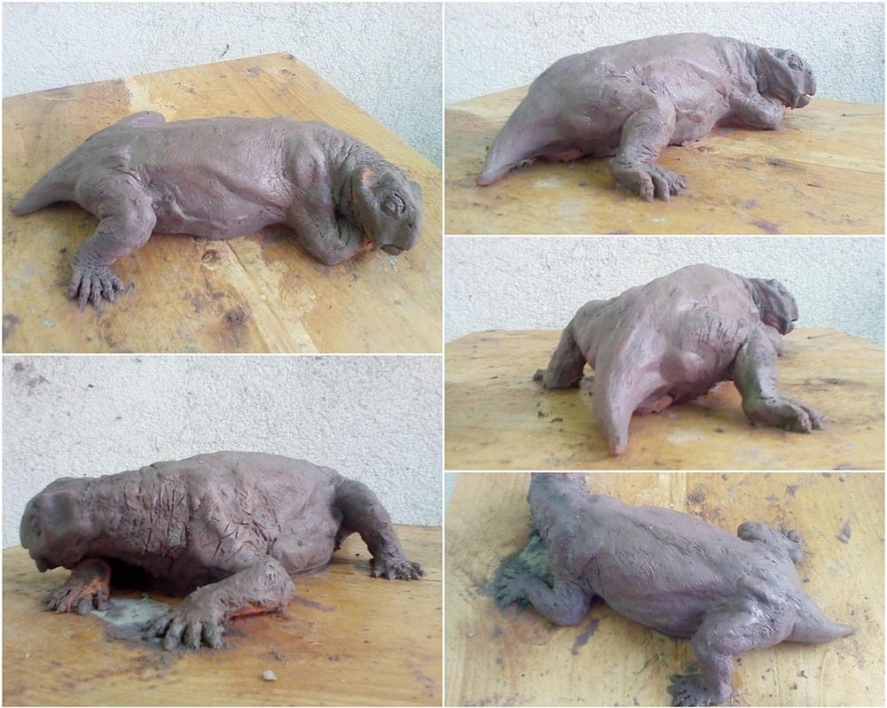 Sleeping Lystrosaurus, update by Waspdrake