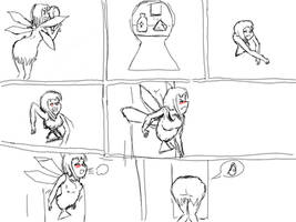 Fairy Stuck In Keyhole by leonidas3090