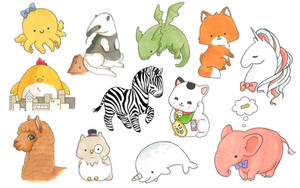 Cute animals and creatures by Shiro-Uma