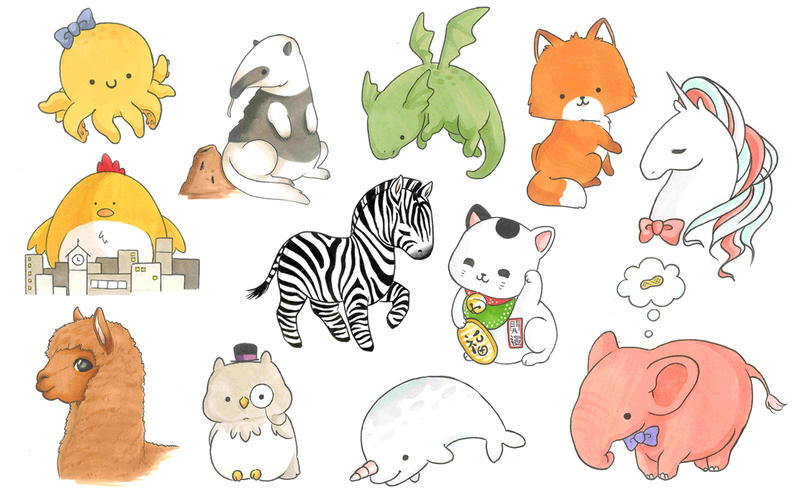 Cute animals and creatures by Shiro-Uma on DeviantArt