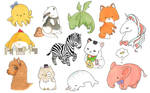 Cute animals and creatures