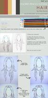 Colored pencils tutorial HAIR part 4 - WHITE