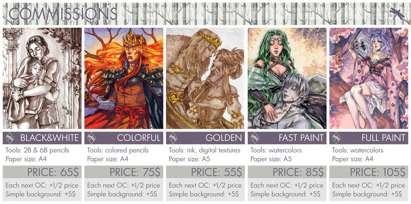COMMISSIONS Examples