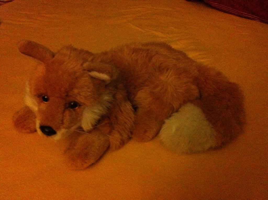 Fox plush by Dark-Vulpes