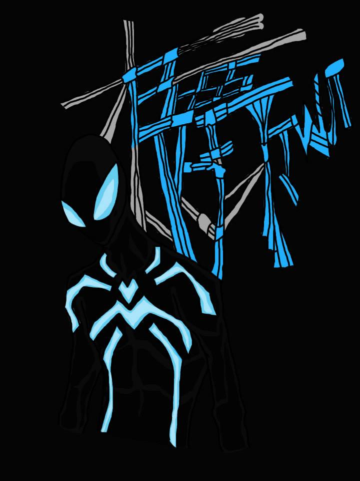 big time spider man blue - photo #1