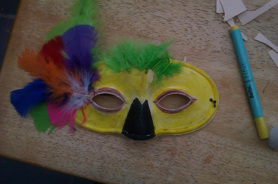 Своими руками маска попугая 90