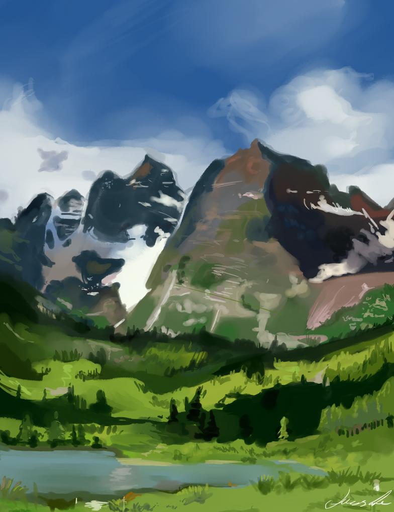 Landscape study by Lumijus