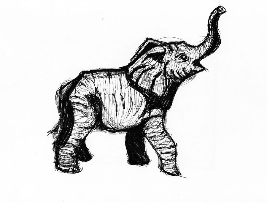 Bronze Elephant by TheCagedBird