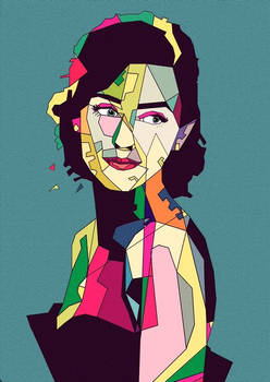 Retro style WPAP/Pop art woman