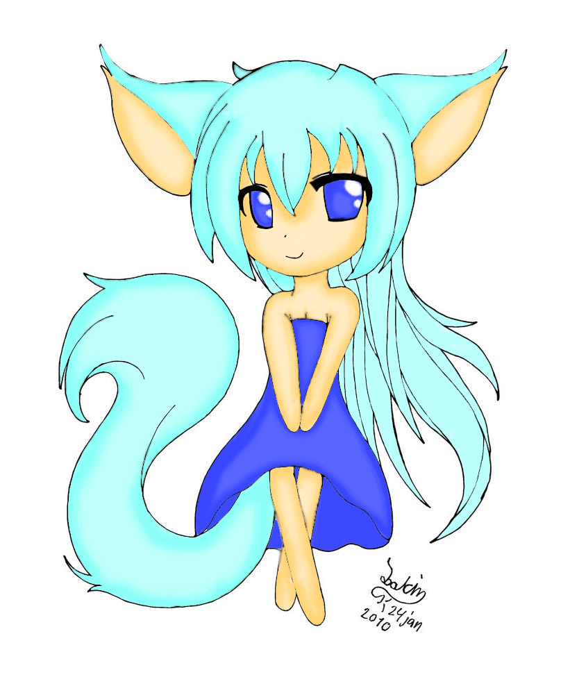 Fox Girl Drawing Remake of practice: Me...