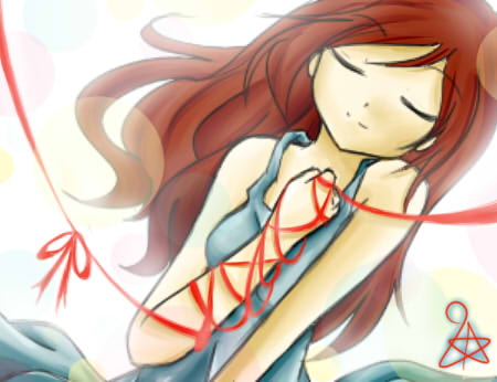 Our red string of fate by fireystar